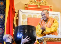 The Sakyong addresses the community
